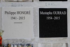 Philippe Honoré (cartoonist) - Columbarium niche at Père Lachaise Cemetery