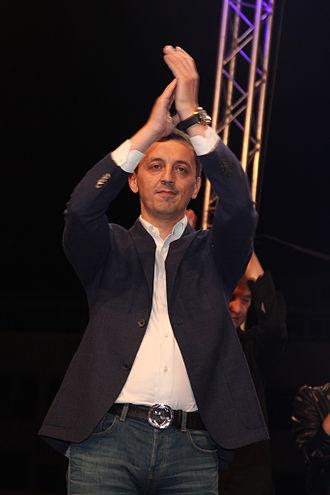 Predrag Bošković - Celebrating second European Championship League Title at the public reception in Podgorica (May 11, 2015)
