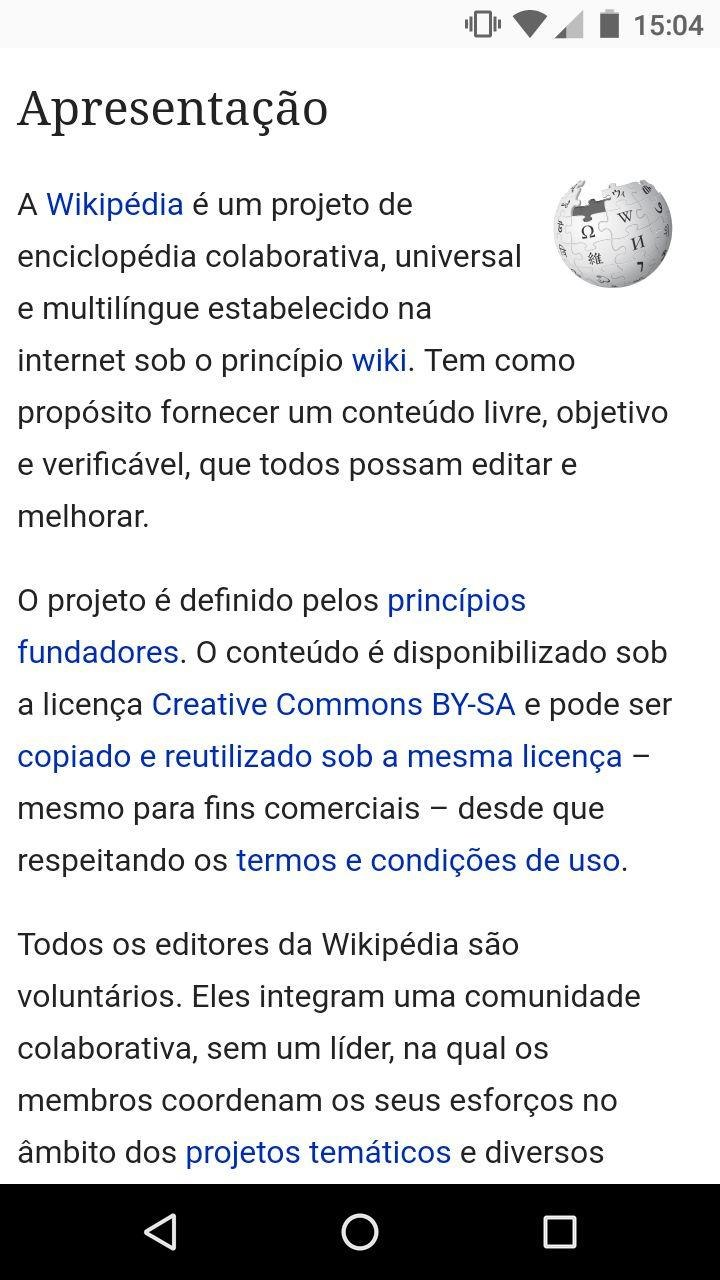 Pagina inicial wikipedia pt