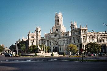 Palacio de Comunicaciones%2C Plaza de Cibeles%2C Madrid 2