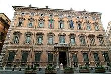 Il Palazzo Madama, sede del Senato della Repubblica Italiana, l'altro ramo del parlamento italiano.