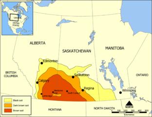 Bodentypenkarte der Kanadisachen Prairieprovinzen