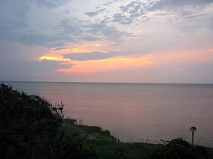 Pamlico Sound - Image: Pamlico Sound from Buxton sunset