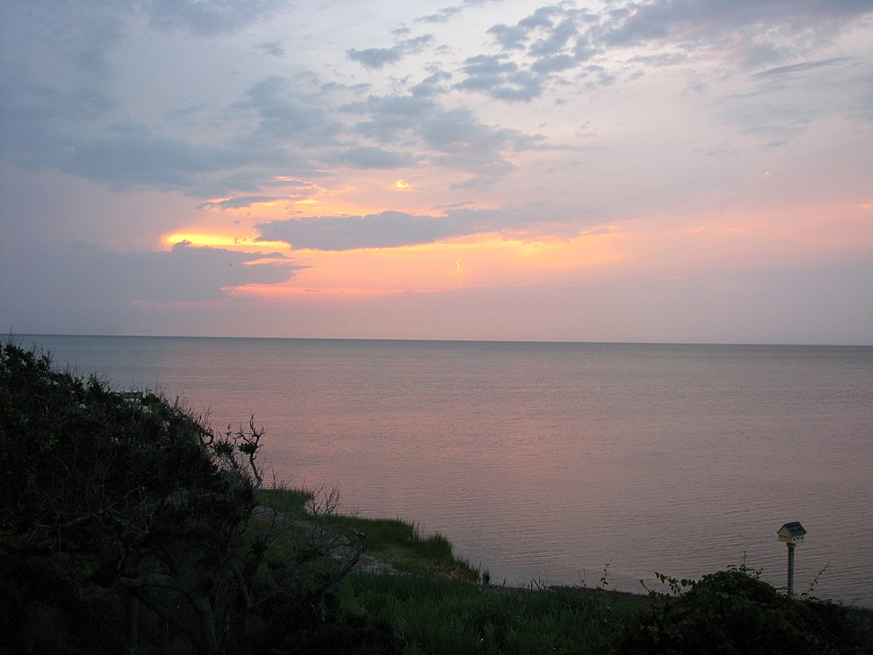 Pamlico Sound from Buxton sunset