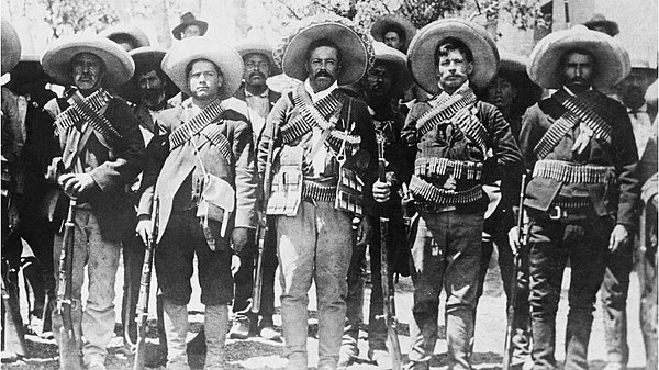 Pancho Villa and followers from the Division of the North. Pancho and his followers.jpg