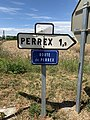 Panneau direction Perrex Plaque route Perrex Vonnas 1.jpg