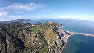 Cape (geography) - Cape Tindari and Marinello lagoons, Sicily