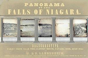 Frederick Langenheim - Panorama of Niagara Falls by Langenheim (1845)