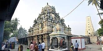 Annur - Panorama view of Sree Manneeshwarar Temple (Inner back side)Annur