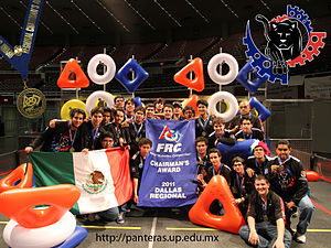 English: Panteras FIRST Robotics team wins the...