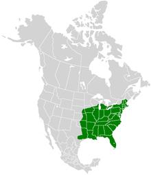 Mappa della gamma Papilio troilus.PNG