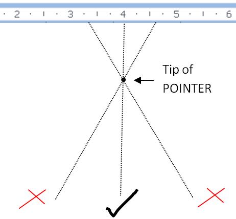 Parallax pointer error