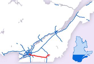 Quebec Autoroute 10 - Image: Parcours Autoroute 10