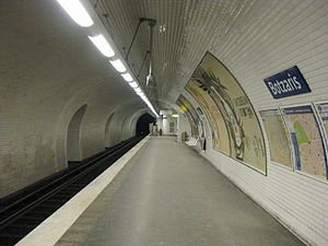 Botzaris (Paris Métro) - Image: Paris Métro Botzaris 7bis