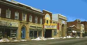 Gowanda, New York - Partial north side view of West Main Street, 2007