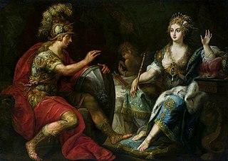 Aeneas and Dido.
