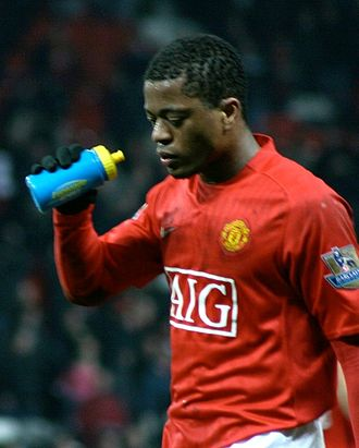 Patrice Evra - Evra comes off the pitch after a match versus Arsenal