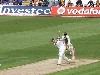 2009 Ashes series - Paul Collingwood batting in the first Test at Cardiff
