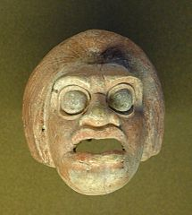 theatrical mask representing a peasant