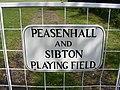 Peasenhall and Sibton Playing Field Sign - geograph.org.uk - 1316390.jpg