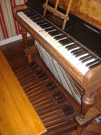 Pedal keyboard - An upright pedal piano