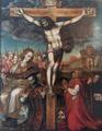 Pedro de Castañeda (1553) Cristo Crucificado e imposición de la casulla a San Ildefonso.png