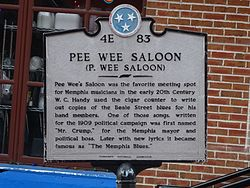 Pee wee saloon   tennessee historical commission