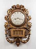18th century gustavian cartel clock by Jacob Kock, Stockholm