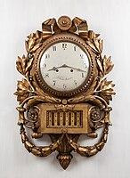 18th century gustavian cartel clock by Jacob Kock, Stockholm