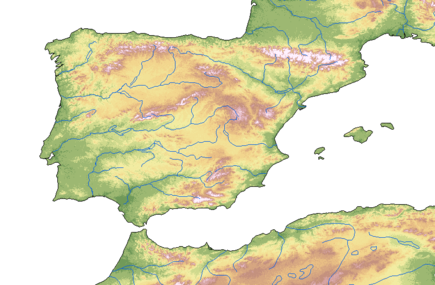 Physical map of the Iberian Peninsula Peninsula Iberica - Iberian Peninsula.png