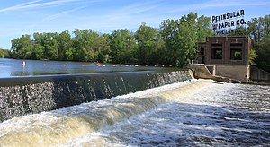 Huron River (Michigan) - Peninsular Dam, Ypsilanti