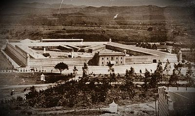 Guatemalan National Penitentiary, built by Barrios to incarcerate and torture his political enemies. Penitenciaria1892.jpg