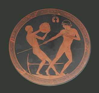 Pentathlon - The pentathlon was first documented in Ancient Greece, and included the discus and javelin throw.