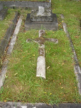 Percy Pilcher - Funerary monument, Brompton Cemetery, London