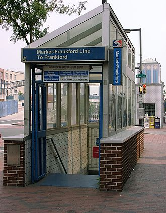 2nd Street station (SEPTA) - Frankford-bound station entrance