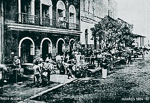 Amazonas (Brazilian state) - Rubber market in the centre of Manaus in 1904.