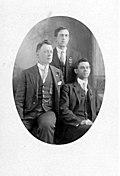 Photographic postcard of three IWW members c. 1920s-1930s.jpg