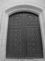 Photography by David Adam Kess, España, Aranda de Duero, Hand Carved Wooden Door, pic aaa101.jpg