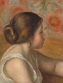 Pierre-Auguste Renoir - Tête d'une jeune fille