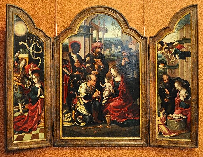Fichier:Pieter Coecke van Aelst - Adoration des mages.jpg