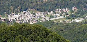 Pila, Piedmont - Pila from a nearby hillside