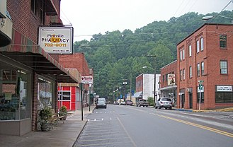 Pineville, West Virginia - Main Street (West Virginia Route 97) in Pineville in 2007