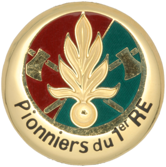 Insignia of the Pionniers of the 1st Foreign Regiment.[82] - French Foreign Legion