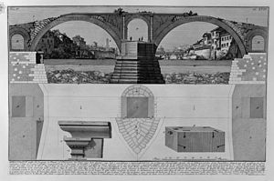 Pons Fabricius - Pons Fabricius as it appears in a Piranesi engraving of 1756