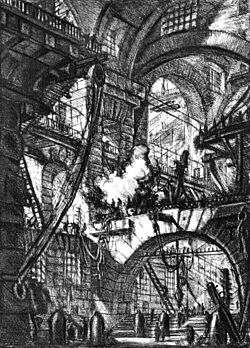Plate VI: The Smoking Fire from Carceri d'Invenzione by Giovanni Battista Piranesi