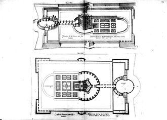 Château de Maulnes - Plans of the Château de Maulnes and grounds by Androuet du Cerceau