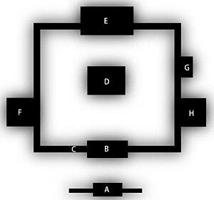 Shichidō garan - Plan of Zuiryū-ji's shichidō garan
