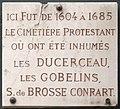 Plaque Cimetière protestant, 30 rue des Saints-Pères, Paris 7.jpg