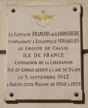 François de Labouchère - Commemorative plaque on the Parisian house of François de Labouchère at n° 8 de la rue Guy-de-Maupassant
