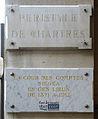 Plaques Cour des Comptes, Péristyle de Chartres, Paris 1.jpg